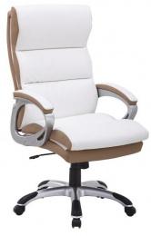 kancelářské křeslo, ekokůže PU bílo-hndedá, KOLO CH137020 kancelárské kreslo