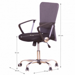 Kancelářská židle AEX, sivá kancelárská stolička