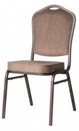 banketová židle Standard Line ST870 světle hnědá - šedá kancelárská stolička