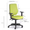 židle LEX asynchro 229/BW kancelárská stolička