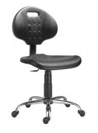 stolička 1290 3109 PU NOR, chrom, klzáky