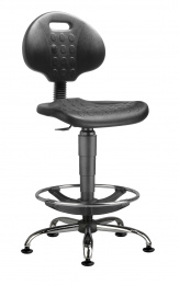 stolička 1290 3159 PU NOR, chrom, extend, klzáky