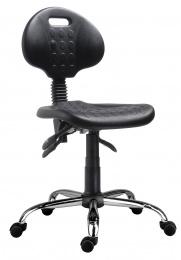 stolička 1290 5100 PU ASYN, chrom, kolieska