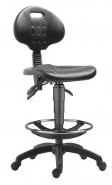 stolička 1290 5050 PU ASYN, plast, extend, kolieska