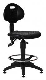 stolička 1290 5059 PU ASYN, plast, extend, klzáky