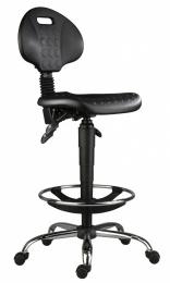 stolička 1290 5150 PU ASYN, chrom, extend, kolieska