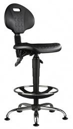 stolička 1290 5159 PU ASYN, chrom, extend, klzáky