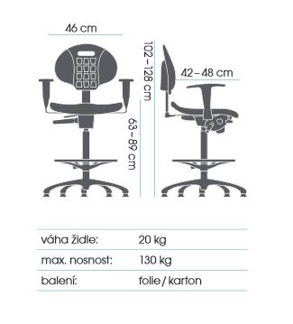 stolička TECHNOLAB 1630