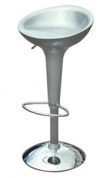 barové stolička EMILIO farba strieborná