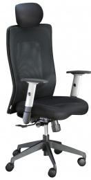 stolička LEXA s podhlavníkom, čierná