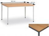 Jedálenský stôl 80 x 80 cm doska buk