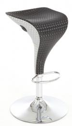barová stolička DONALD černo šedá