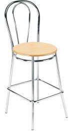 stolička TULIPÁN HOCKER - dřevěný sedák