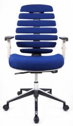 stolička FISH BONES sivý plast, modrá 26-39