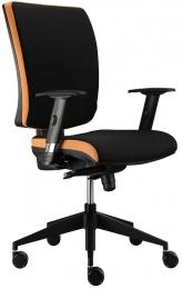 stolička LARA VIP E-SYNCHRO sivo-oranžová, Zľava 633S