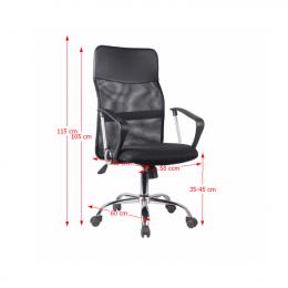Kancelárska stolička TC3-973M 2 NEW - čierna