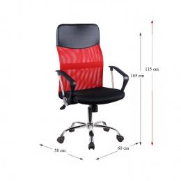 Kancelárska stolička TC3-973M 2 NEW - červená