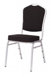 banketová židle Standard Line ST370 černo - stříbrné kancelárská stolička