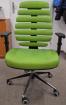 stolička FISH BONES čierny plast, zelená látka SH06, č. AOJ031