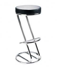 stolička ZEUS čierna koženka