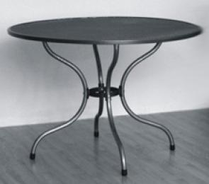 Kovový zahradní stôl TAKO 90cm - U502 kulatý