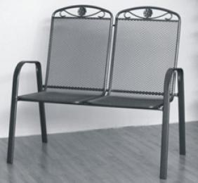 stolička kovová SÁGA dubl U002