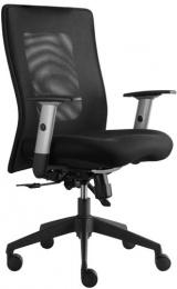 stolička LEXA bez podhlavníka, farba čierna