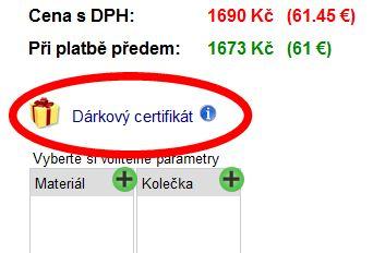 Darčekové certifikáty