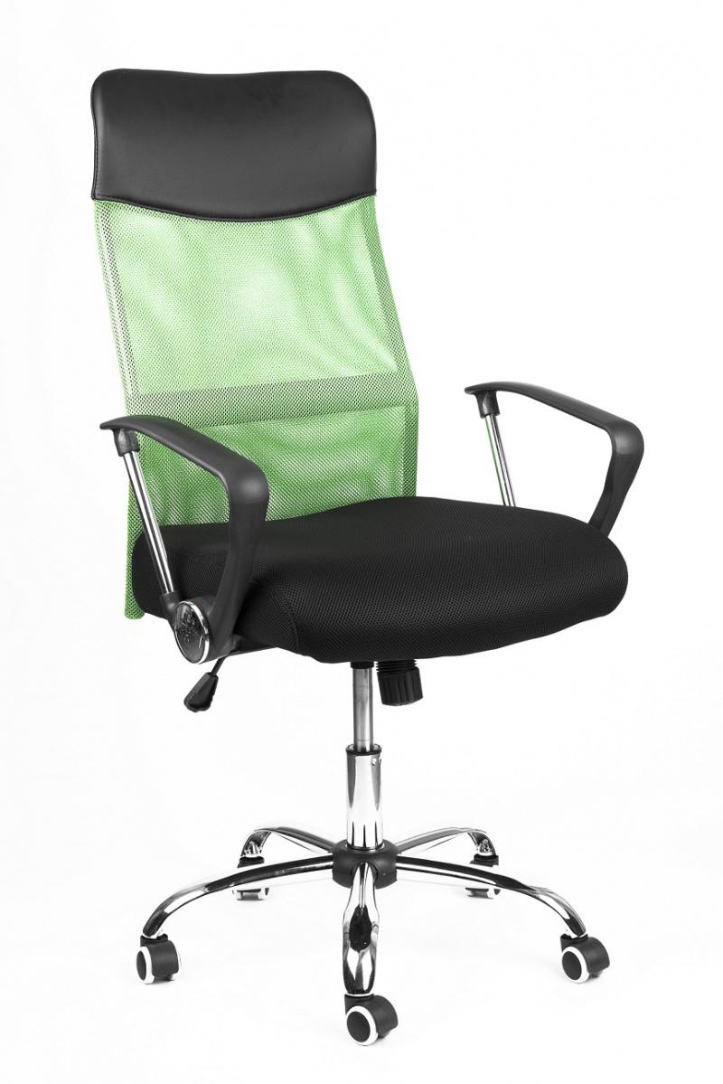530b57006ad8 Kľúčové vlastnosti kancelárske stoličky Prezident zelený  -prodyšné  operadlo vďaka potahovému materiálu MESH -kříž a podrúčky z kovu - chróm  -plynový piest