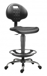 stolička 1290 3150 PU NOR, chrom, extend, kolieska