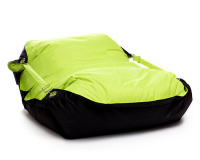 Sedací vak Omni Bag Duo s popruhmi Fluorescent Yellow-Black 191x141