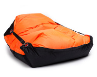 Sedací vak Omni Bag Duo s popruhmi  Fluorescent Orange-Black 181x141