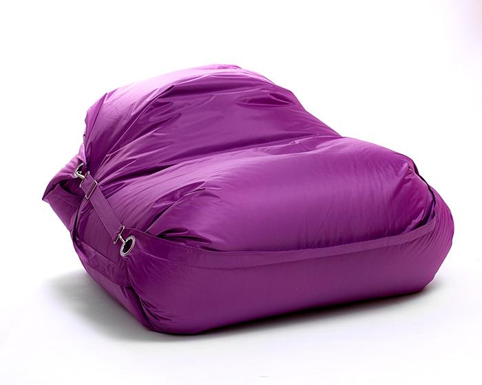 OMNIPULS Sedací vak Omni Bag s popruhmi Violet 191x141