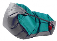 Sedací vak 189x140 duo sea green - gray