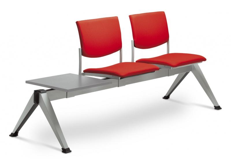 LD SEATING 2-lavice se stolkem SEANCE 099/2T-N1, podnož čierna