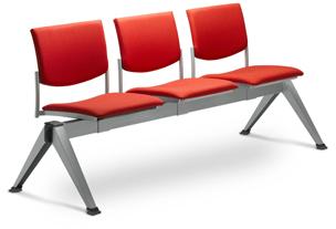 LD SEATING 3-lavice SEANCE 099/3-N2, podnož šedá