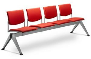LD SEATING 4-lavice SEANCE 099/4-N2, podnož šedá