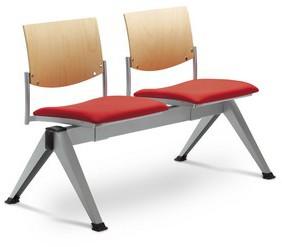LD SEATING 2-lavice SEANCE 099/V-2-N2, podnož šedá