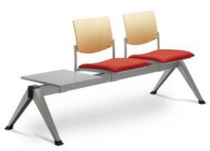 LD SEATING 2-lavice se stolkem SEANCE 099/V-2T-N1, podnož čierna