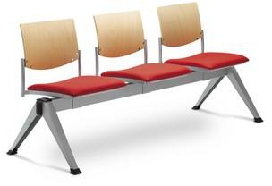 LD SEATING 3-lavice SEANCE 099/V-3-N2, podnož šedá