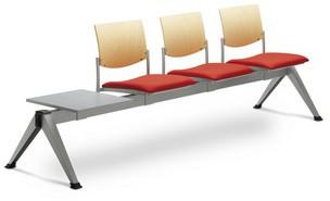 LD SEATING 3-lavice se stolkem SEANCE 099/V-3T-N1, podnož čierna