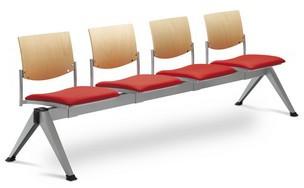 LD SEATING 4-lavice SEANCE 099/V-4-N2, podnož šedá