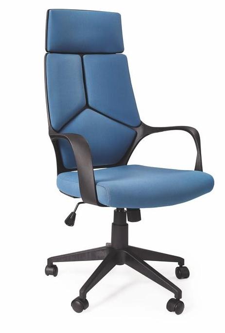 HALMAR kancelárské kreslo VOYAGER modro-čierne