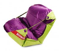 Sedací vak 189x140 duo limet - purple