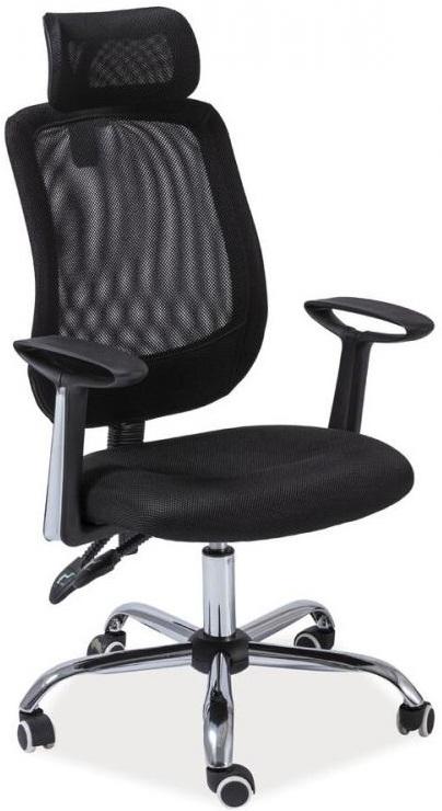 SEDIA kancelárska stolička Q118 čierna