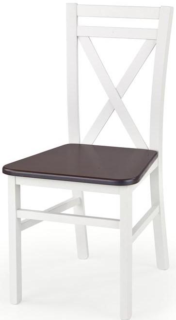 HALMAR Jedálenská stolička DARIUSZ 2 biela / tm. orech