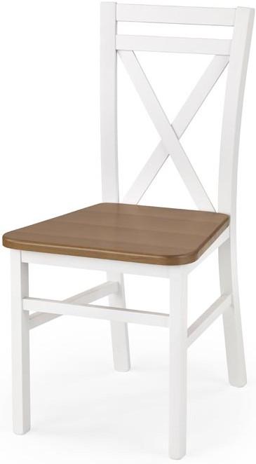 HALMAR Jedálenská stolička DARIUSZ 2 biela/jelša