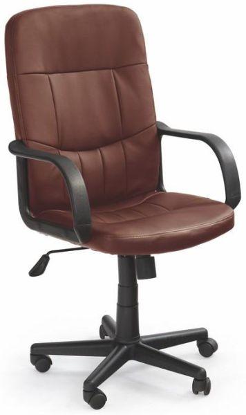 HALMAR kancelárské kreslo DENZEL tmavo hnedé