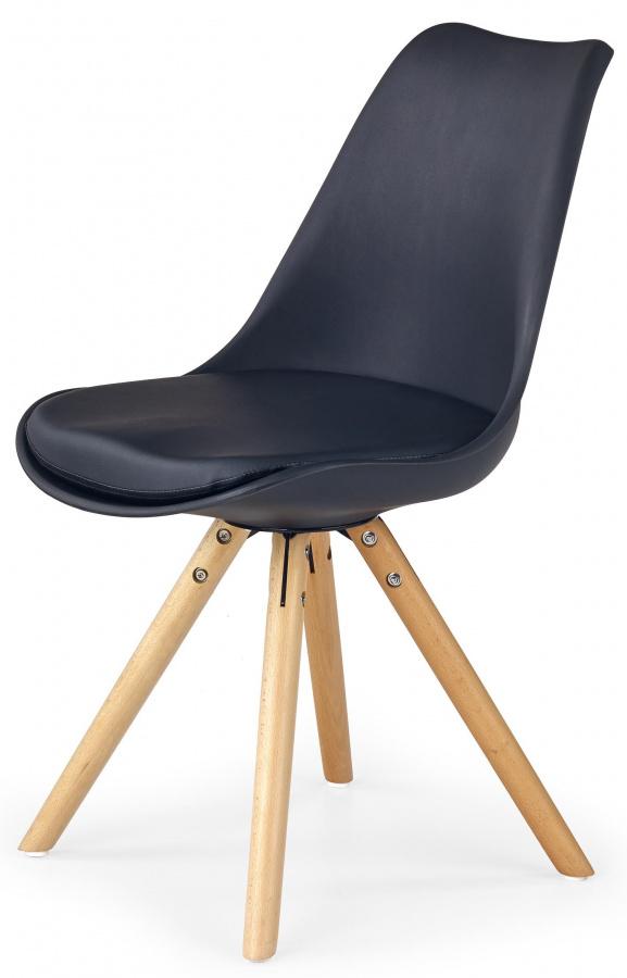 HALMAR Jedálenská stolička K201 čierná