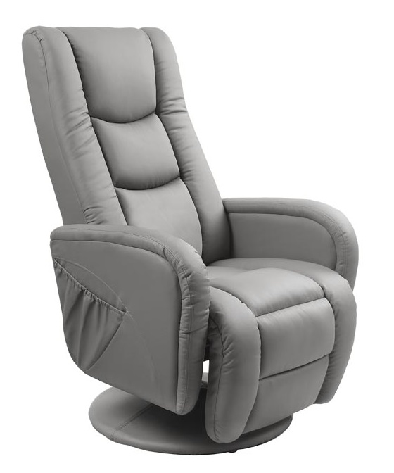 HALMAR relaxačné kreslo Pulsar šedé